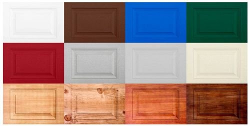 Цвет филенчатых панелей гаражных ворот