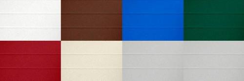 Цветовые решения для секционных ворот